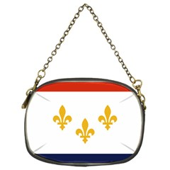 Flag Of New Orleans  Chain Purses (two Sides)