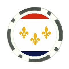 Flag Of New Orleans  Poker Chip Card Guards (10 Pack)