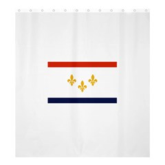 Flag Of New Orleans  Shower Curtain 66  X 72  (large)