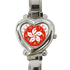 Emblem Of Hong Kong  Heart Italian Charm Watch