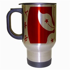 Emblem Of Hong Kong  Travel Mug (silver Gray)