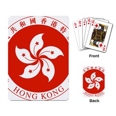 Emblem Of Hong Kong  Playing Card