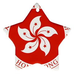 Emblem Of Hong Kong  Star Ornament (two Sides)