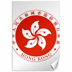 Emblem Of Hong Kong  Canvas 12  X 18