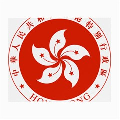 Emblem Of Hong Kong  Small Glasses Cloth (2 Side)