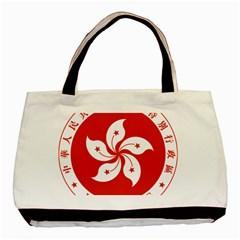 Emblem Of Hong Kong  Basic Tote Bag (two Sides)