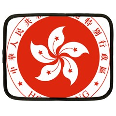 Emblem Of Hong Kong  Netbook Case (large)
