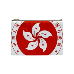 Emblem Of Hong Kong  Cosmetic Bag (medium)