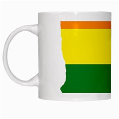 Lgbt Flag Map Of Minnesota  White Mugs