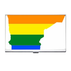 Lgbt Flag Map Of Minnesota  Business Card Holders