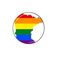 Lgbt Flag Map Of Minnesota  Hat Clip Ball Marker (10 Pack)