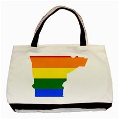 Lgbt Flag Map Of Minnesota  Basic Tote Bag