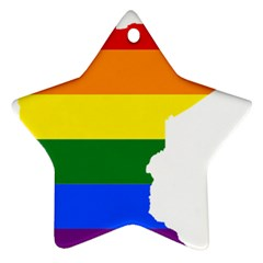 Lgbt Flag Map Of Minnesota  Star Ornament (two Sides)