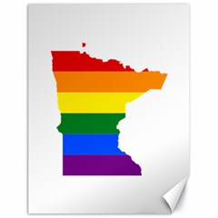 Lgbt Flag Map Of Minnesota  Canvas 18  X 24