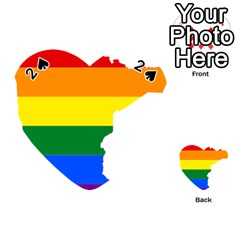 Lgbt Flag Map Of Minnesota  Playing Cards 54 (heart)