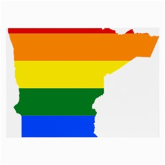 Lgbt Flag Map Of Minnesota  Large Glasses Cloth (2 Side)