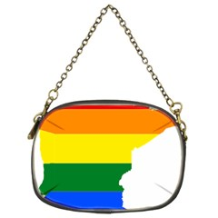 Lgbt Flag Map Of Minnesota  Chain Purses (two Sides)