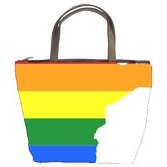 Lgbt Flag Map Of Minnesota  Bucket Bags