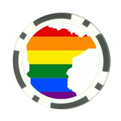 Lgbt Flag Map Of Minnesota  Poker Chip Card Guards (10 Pack)