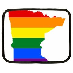 Lgbt Flag Map Of Minnesota  Netbook Case (xxl)