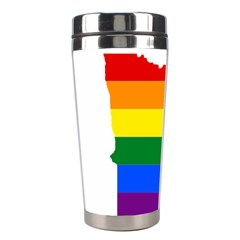 Lgbt Flag Map Of Minnesota  Stainless Steel Travel Tumblers
