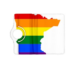 Lgbt Flag Map Of Minnesota  Kindle Fire HD (2013) Flip 360 Case