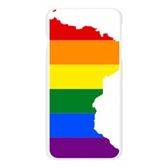 Lgbt Flag Map Of Minnesota  Apple Seamless iPhone 6 Plus/6S Plus Case (Transparent)