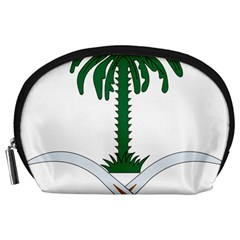 Emblem Of Saudi Arabia  Accessory Pouches (Large)