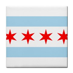 Flag Of Chicago Tile Coasters
