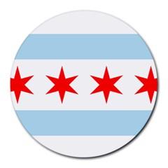 Flag Of Chicago Round Mousepads