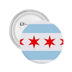 Flag Of Chicago 2 25  Buttons