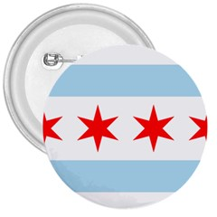 Flag Of Chicago 3  Buttons