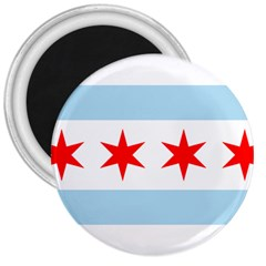 Flag Of Chicago 3  Magnets