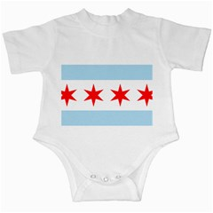 Flag Of Chicago Infant Creepers