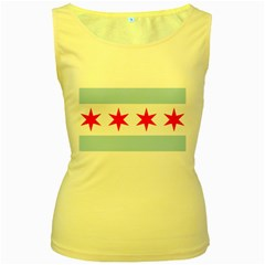 Flag Of Chicago Women s Yellow Tank Top