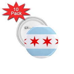 Flag Of Chicago 1 75  Buttons (10 Pack)