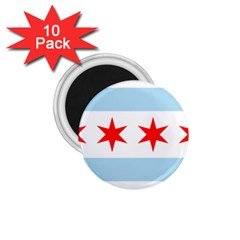 Flag Of Chicago 1 75  Magnets (10 Pack)