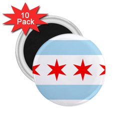 Flag Of Chicago 2 25  Magnets (10 Pack)