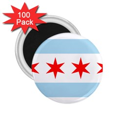 Flag Of Chicago 2 25  Magnets (100 Pack)