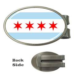 Flag Of Chicago Money Clips (oval)
