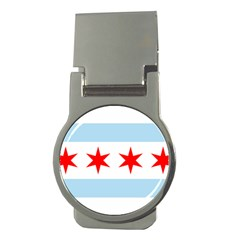 Flag Of Chicago Money Clips (round)