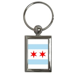 Flag Of Chicago Key Chains (rectangle)