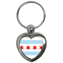 Flag Of Chicago Key Chains (heart)