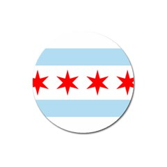 Flag Of Chicago Magnet 3  (round)