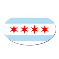 Flag Of Chicago Oval Magnet