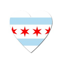 Flag Of Chicago Heart Magnet