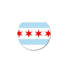 Flag Of Chicago Golf Ball Marker