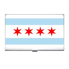 Flag Of Chicago Business Card Holders