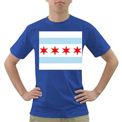 Flag Of Chicago Dark T Shirt