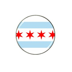 Flag Of Chicago Hat Clip Ball Marker (4 Pack)